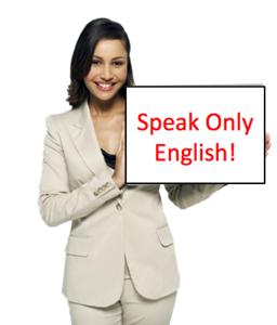 English Only Policy